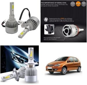 Headlights and bulbs - Trigcars Tata Indica Car LED HID Head Light