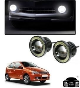 Trigcars Tata Indica V2 Car High Power Fog Light With Angel Eye