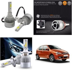 Headlights and bulbs - Trigcars Tata Indica V2 Car LED HID Head Light