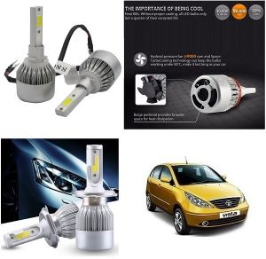 Headlights and bulbs - Trigcars Tata Indica Vista Car LED HID Head Light