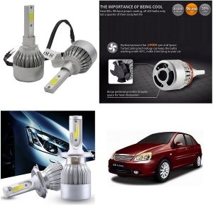 Trigcars Tata Indigo Cs Car LED Hid Head Light
