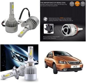 Headlights and bulbs - Trigcars Tata Indigo eCS Car LED HID Head Light