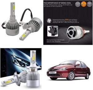 Headlights and bulbs - Trigcars Tata Indigo SX Car LED HID Head Light