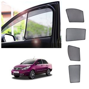 Magnetic curtain and sunshades for cars - Trigcars Tata Manza Car Half Sunshade