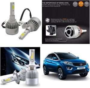 Headlights and bulbs - Trigcars Tata Nexon Car LED HID Head Light