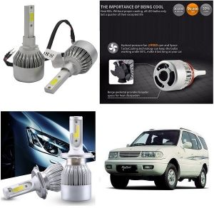 Headlights and bulbs - Trigcars Tata Safari Dicor Car LED HID Head Light