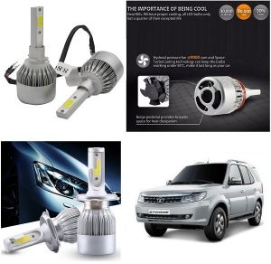 Headlights and bulbs - Trigcars Tata Safari Strome Car LED HID Head Light