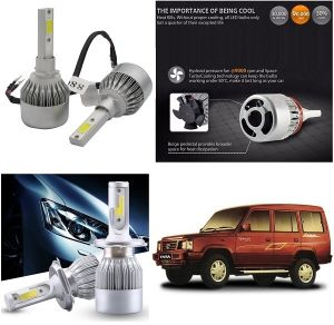 Headlights and bulbs - Trigcars Tata Spacio Car LED HID Head Light