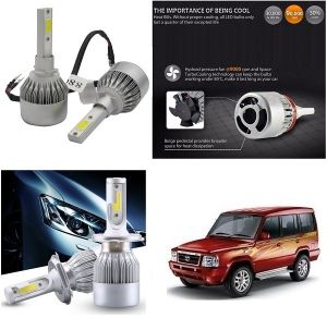 Headlights and bulbs - Trigcars Tata Sumo Gold Car LED HID Head Light