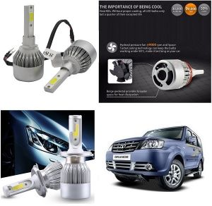 Trigcars Tata Sumo Grande Car LED Hid Head Light