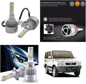 Headlights and bulbs - Trigcars Tata Sumo Victa Car LED HID Head Light