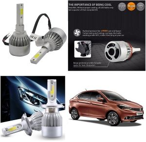 Headlights and bulbs - Trigcars Tata Tigor Car LED HID Head Light