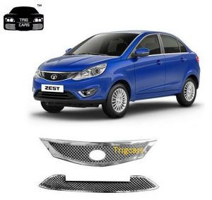 Trigcars Tata Zest Car Front Grill Chrome Plated