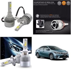 Headlights and bulbs - Trigcars Toyota Corolla Altis Car LED HID Head Light
