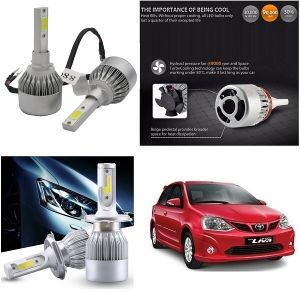 Headlights and bulbs - Trigcars Toyota Etios Liva Car LED HID Head Light