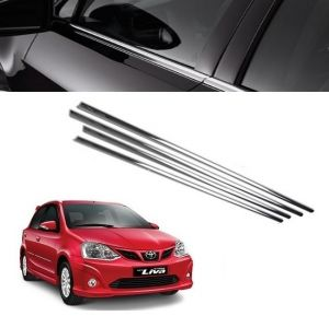 Trigcars Toyota Etios Liva Car Window Lower Garnish