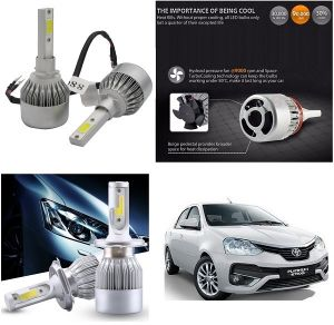 Headlights and bulbs - Trigcars Toyota Etios Old Car LED HID Head Light