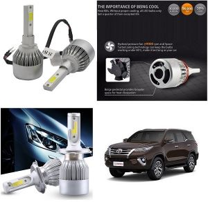 Headlights and bulbs - Trigcars Toyota Fortuner New Car LED HID Head Light