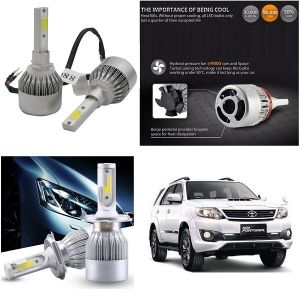 Headlights and bulbs - Trigcars Toyota Fortuner Old Car LED HID Head Light