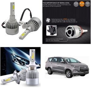 Headlights and bulbs - Trigcars Toyota Innova Crysta Car LED HID Head Light