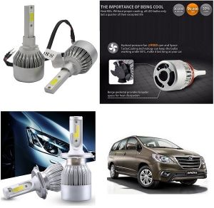 Headlights and bulbs - Trigcars Toyota Innova New Car LED HID Head Light