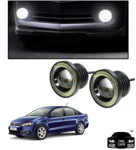 Trigcars Volkswagen Vento Car High Power Fog Light With Angel Eye
