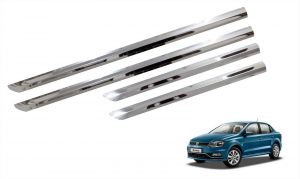 Side beading for cars - Trigcars Volkswagen Ameo Car Steel Chrome Side Beading