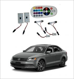 Trigcars Volkswagen Jetta 2 X 16 Colors Rgb Bright 5050 LED Car Roof Dome Light Festoon T10 IR Remote