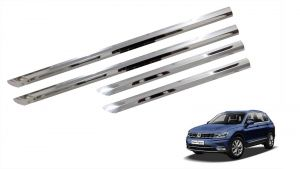 Trigcars Volkswagen Tiguan Car Steel Chrome Side Beading