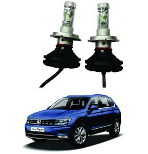 Trigcars Volkswagen Tiguan Car Glass LED Head Light