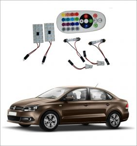 Trigcars Volkswagen Vento 2 X 16 Colors Rgb Bright 5050 LED Car Roof Dome Light Festoon T10 IR Remote