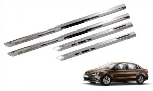 Trigcars Volkswagen Vento Car Steel Chrome Side Beading