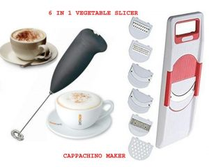 Electric Handle Coffee , Milk, Egg Beater With 6 In 1 Vegetable Slicer