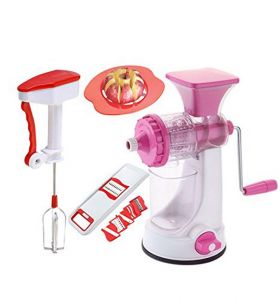 Fruit Juicer , Apple Cutter, 6 In 1 Slicer, Power Free Blender Combo Offer.
