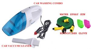 Stylish 12 Volt Wet/dry Car Vacuum Cleaner With Car Washing Spray & Car Washing Glove