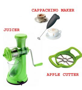 Fruit Juicer & With Electric Hand Beater Free Apple Cutter Combo Offer.