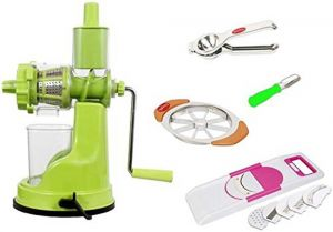 Fruit Juicer   Apple Cutter   6 In 1 Slicer   2 In 1 Lemon Squeezer  Vegetable Peeler Combo Offer.