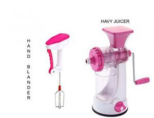 Fruit Juicer With Power Free Hand Blender For Egg Beater, Lassi, Butter Milk.