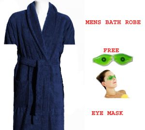 Mens Bath Robe Free Eye Cooling Mask. Amazing Combo Offer.