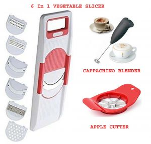 Electric Handle Coffee, Milk, Egg Beater   6 In 1 Slicer   Apple Cutter COMBO OFFER.