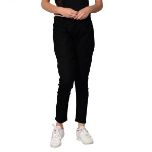 Waiverson Women Black Slim Fit High-rise Stretchable Jeans (code - Dp-dnm-blk-1106_l)