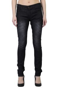 Waiverson Women Black Slim Fit Washed Jeans (code - Dp-dnm-blk-1119_l)