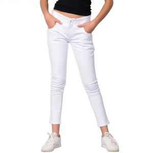 Waiverson Women White Slim Fit High-rise Stretchable Jeans (code - Dp-dnm-wht-1107_l)