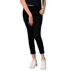 Waiverson Women Black Slim Fit High-rise Clean Look Jeans (code - Dp-dnm-blk-1111_l)
