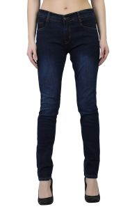 Waiverson Women Dark Blue Slim Fit Washed Jeans (code - Dp-dnm-drkblk-1120_l)