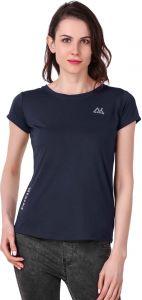 Waiverson Casual Plain Sports T-shirts For Women (navy) (code -sport-tee-nivik-nvy)