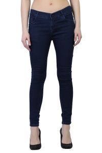 Waiverson Women Dark Blue Slim Fit Stretchable Jeans (code - Dp-dnm-drkblu-1117_l)