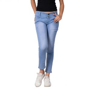 Waiverson Women Blue Slim Fit High-rise Stretchable Jeans (code - Dp-dnm-blu-1105_l)