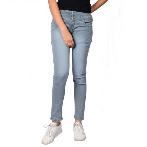 Waiverson Women Gray Slim Fit High-rise Stretchable Jeans (code - Dp-dnm-gry-1109_l)