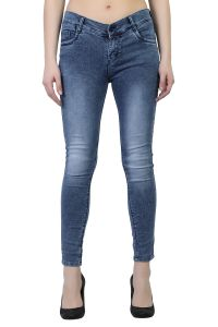 Waiverson Women Dark Blue Slim Fit Washed Jeans (code - Dp-dnm-drkblu-1114_l)